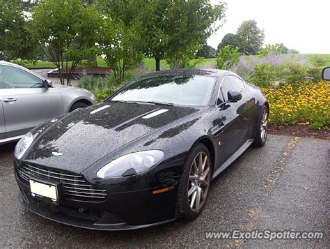 Aston Martin Canada by Aston Martin Vantage Spotted In Ontario Canada On