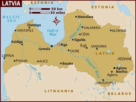 where is latvia on a map map of latvia