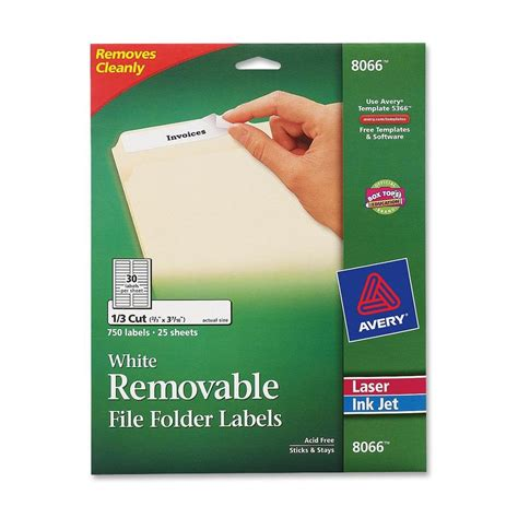 avery removable filing labels ld products