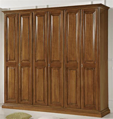 armadio 6 ante prezzi armadio smontabile in legno massiccio tinta noce con 6