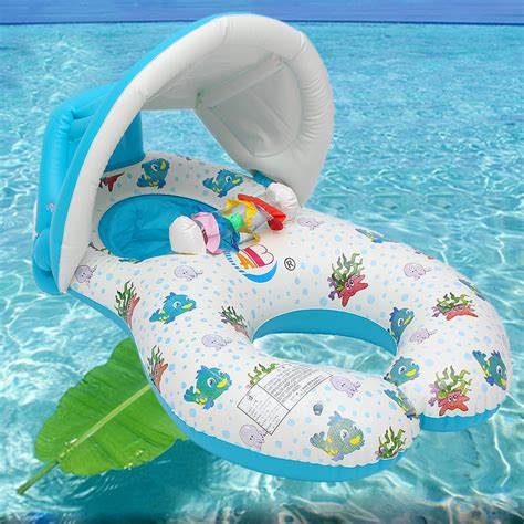 baby pool seat with shade ipree baby swimming ring swim pool water