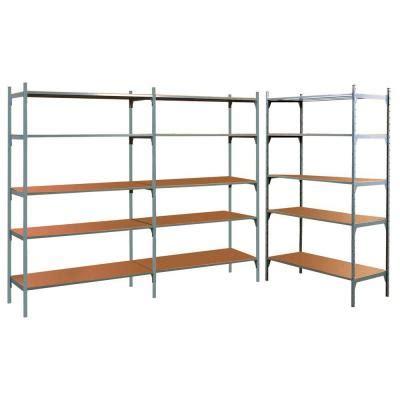 montante scaffale montante scaffale laccato grigio altezza 200 cm