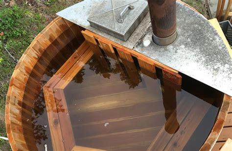 diy wood bathtub how we built a diy wood fired hot tub from cedar with