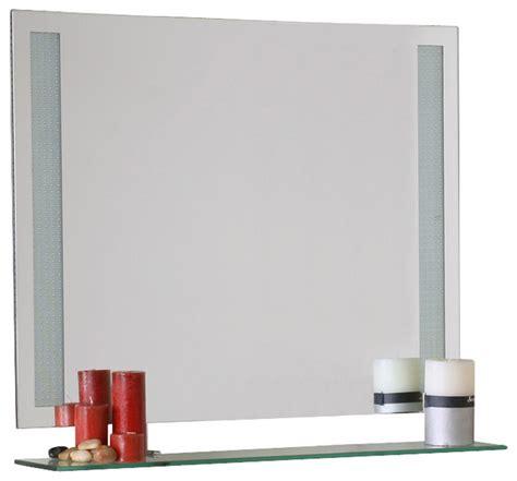 frameless contemporary bathroom mirror with shelf in decor wonderland frameless amyrilla mirror with shelf
