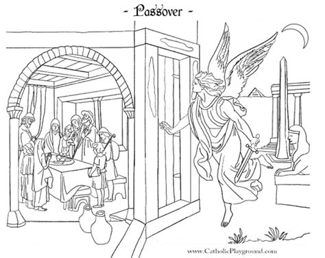 coloring pages passover print passover coloring page catholic playground