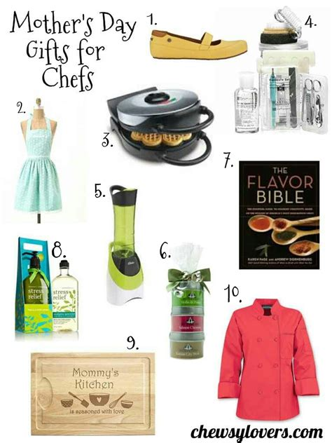 gift ideas for chefs mother s day gift ideas for chefs chewsy lovers