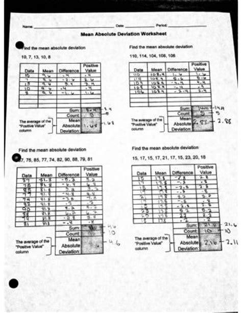 Absolute Deviation Worksheet Pdf absolute deviation worksheet absolute