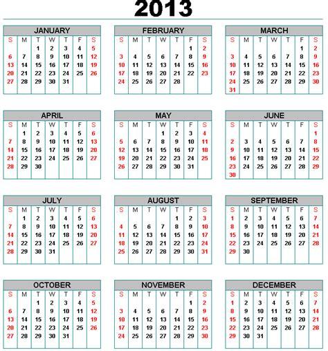Calendario Lunar 2013 Selecci 243 N Calendarios Argentina 2013 Fines De Semana