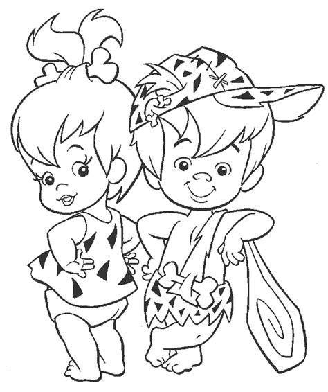 Flintstones Coloring Book Coloring Home Www Free Coloring Sheets