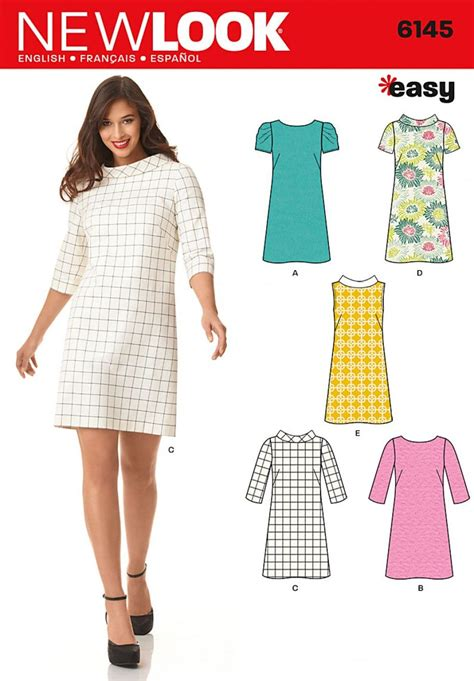 pattern finder sewing new look 6145 women s dress and belt sewing pattern