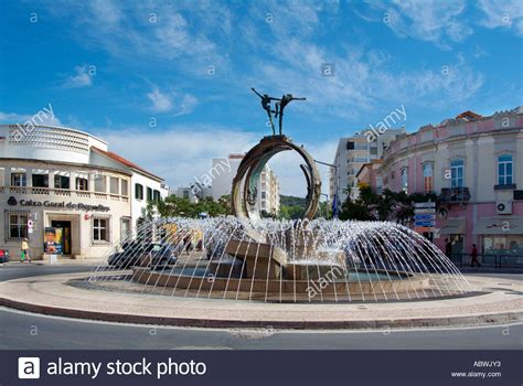 Blue City Morocco Water Feature Fountain Town Square Roundabout Civic Pride