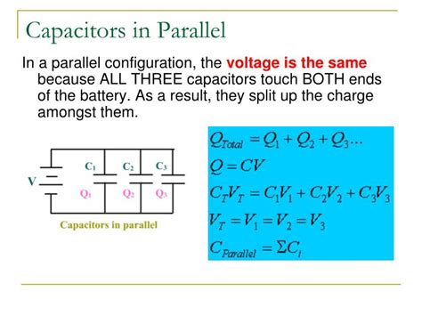 capacitor parallel voltage rating ppt capacitance and dielectrics powerpoint presentation id 1854318