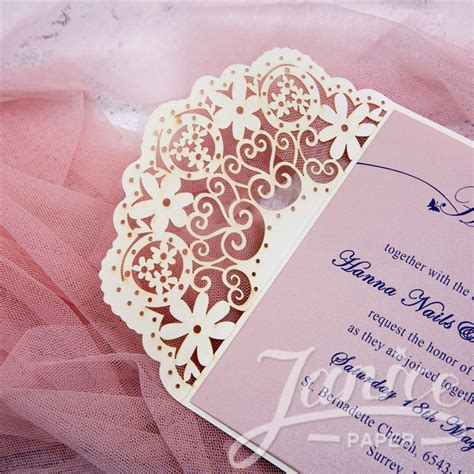 wholesale cheap laser cut lace wedding invitations wpl0042