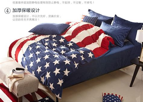 american flag velvet bedding comforter set queen size