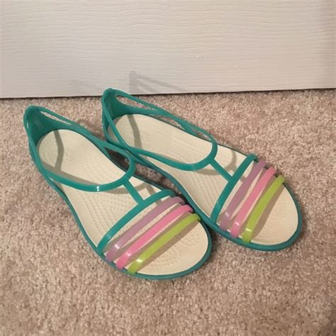 croc jelly sandals 70 crocs shoes crocs jelly sandals rainbow size 6