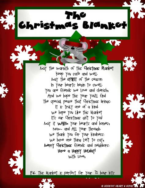 the best christmas gift poem saying to go with blanket just b cause