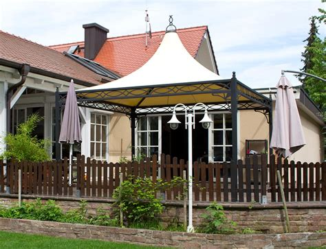 Pavillon Mit Festem Dach 4x4 by Referenzen Mein Gartenpavillon