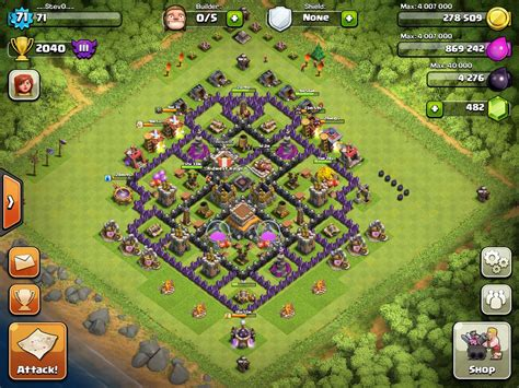 layout for town hall 8 town hall 8 layout clash of clans www pixshark com
