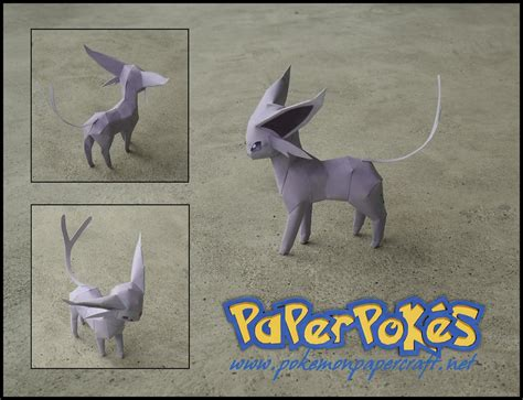 Espeon Papercraft - mini espeon papercraft by jyxxie on deviantart