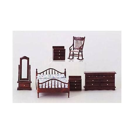 dollhouse bedroom furniture set dollhouse mahogany 6 piece master bedroom set miniature