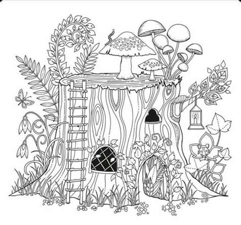 tree stump coloring page tree stump house buildings to color pinterest tree stump