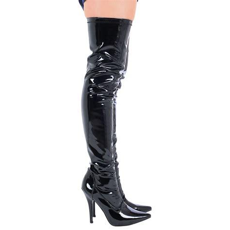 thigh high stiletto boots lucille womens stiletto heels zip up thigh