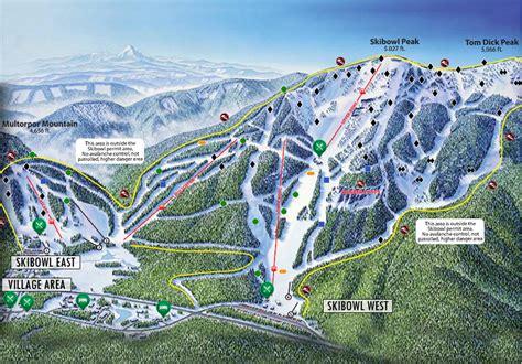 map of oregon ski resorts mt skibowl trail map skicentral
