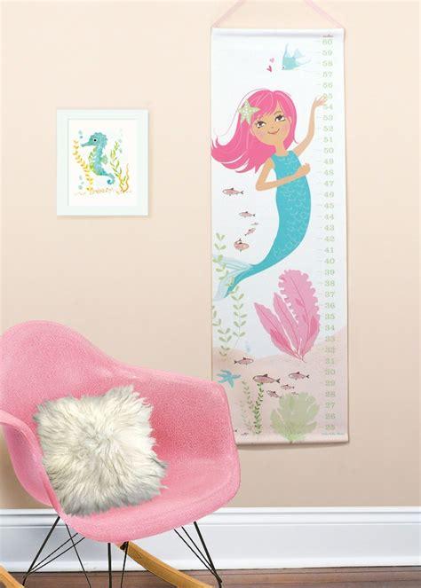 Mermaid Nursery Decor Growth Chart Mermaid Nursery For Children