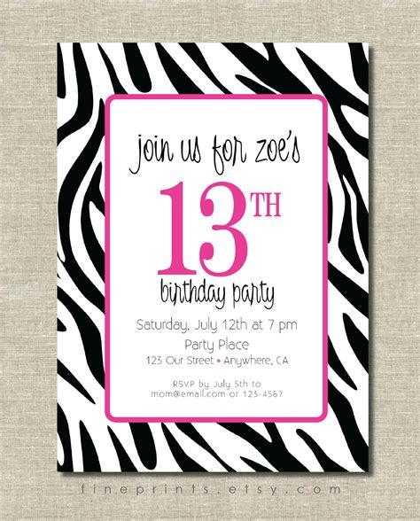 free printable birthday cards zebra print 7 best images of free printable zebra birthday invitations