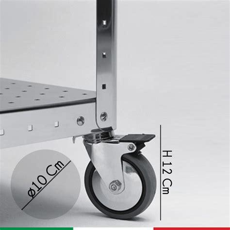 scaffali con ruote ruote anti graffio con freno per scaffale graepel linea