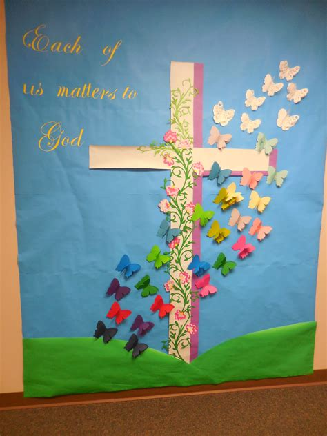 bulletin board decorations quot each of us matters to god quot april easter resurrection