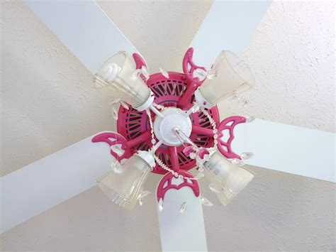 candace creations pink ceiling fan chandelier makeover