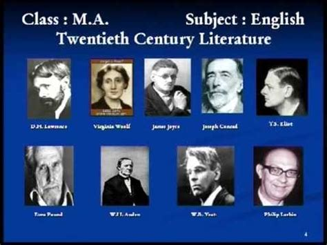themes in british literature in the 20th century 20th century in literature