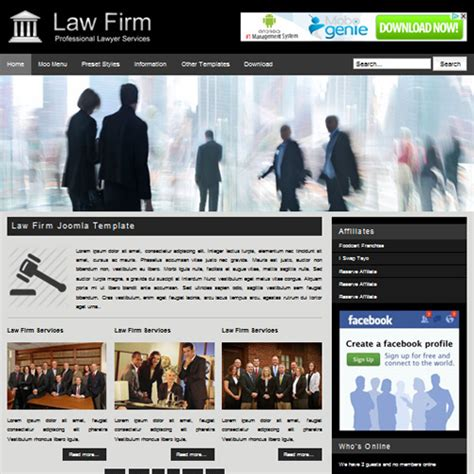 free law firm joomla template by primer themes