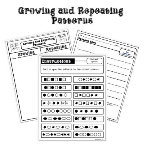 increasing pattern worksheet grade 3 math increasing patterns worksheets pattern