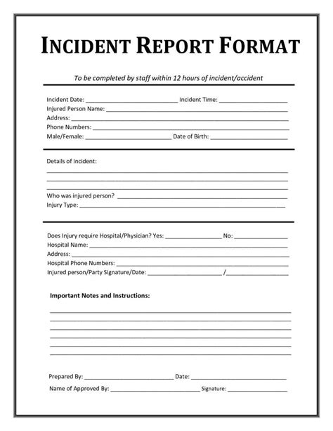 security guard incident report template word and it