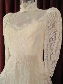 1960 s edwardian style ivory lace vintage wedding gown
