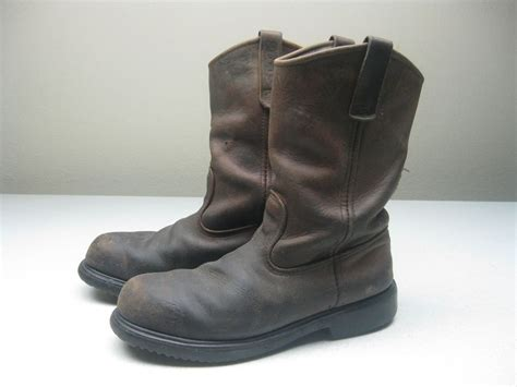 pull on boots mens wing 2231 pecos steel toe 11 inch pull on work