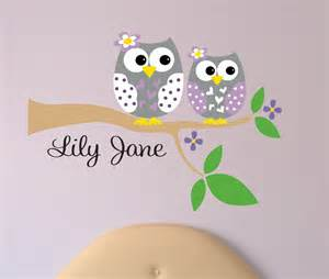 Wall Sticker Owl personalized owl decal name wall decal owl wall decals
