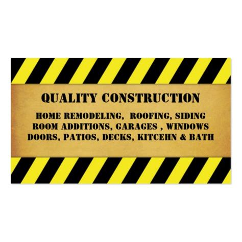 home remodeling construction business card zazzle