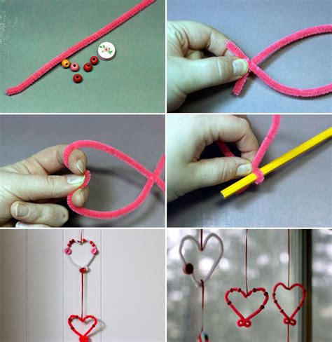 Easy Crafts For Home Decor | valentines day crafts kids easy home decor garlands pipe