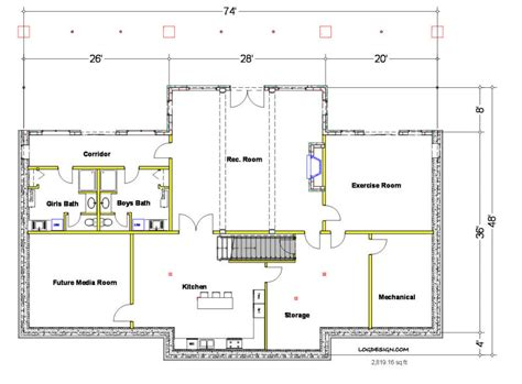 basement layout basement house plans and the north bend sq ft taron design