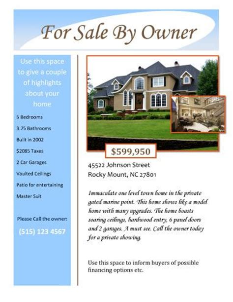 house rental flyer template 1000 ideas about for rent by owner on renting condos and condos for rent