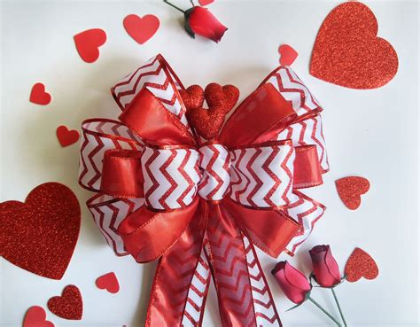 valentines day bow chevron valentines day decorations bow chic design