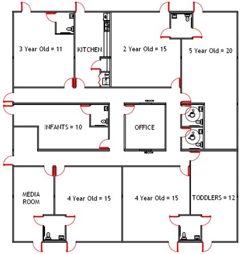 child care center floor plans childcare layout childcare childcare and