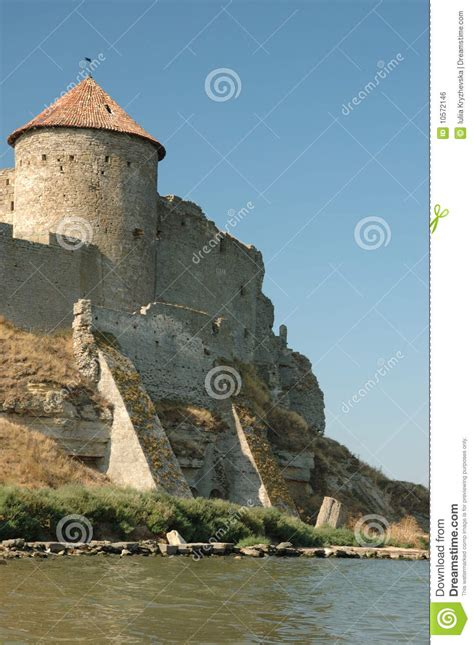 fortress bank fortress on the river bank royalty free stock image