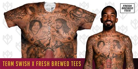 jr smith tattoo fresh brewed tees creates j r smith shirtless