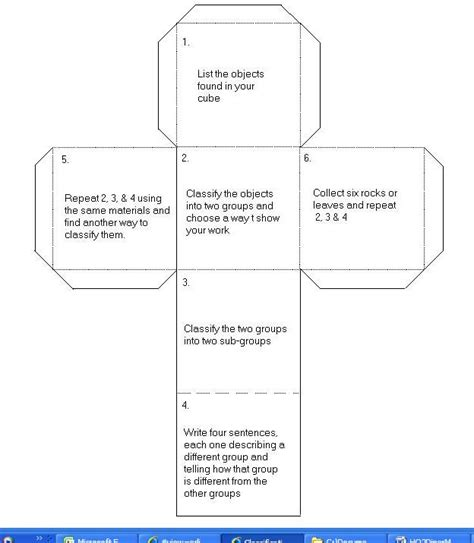 story cube template 2differentiate cubing
