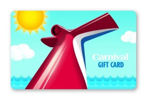 Carnival Gift Card - carnival cruise line news