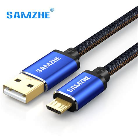 Official Topk Premium Denim Micro Usb Fast Charging Cable Data 2 4a samzhe micro usb cable fabric fast charging 5v 2a
